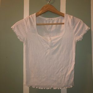 White Caution to the Wind Crop Top